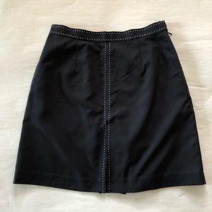 Izod Skort Black/White Stitching Athletic Wear 6
